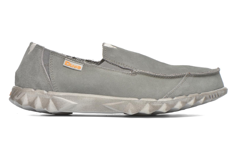 Loafers DUDE Farty Suede Grå bild från baksidan