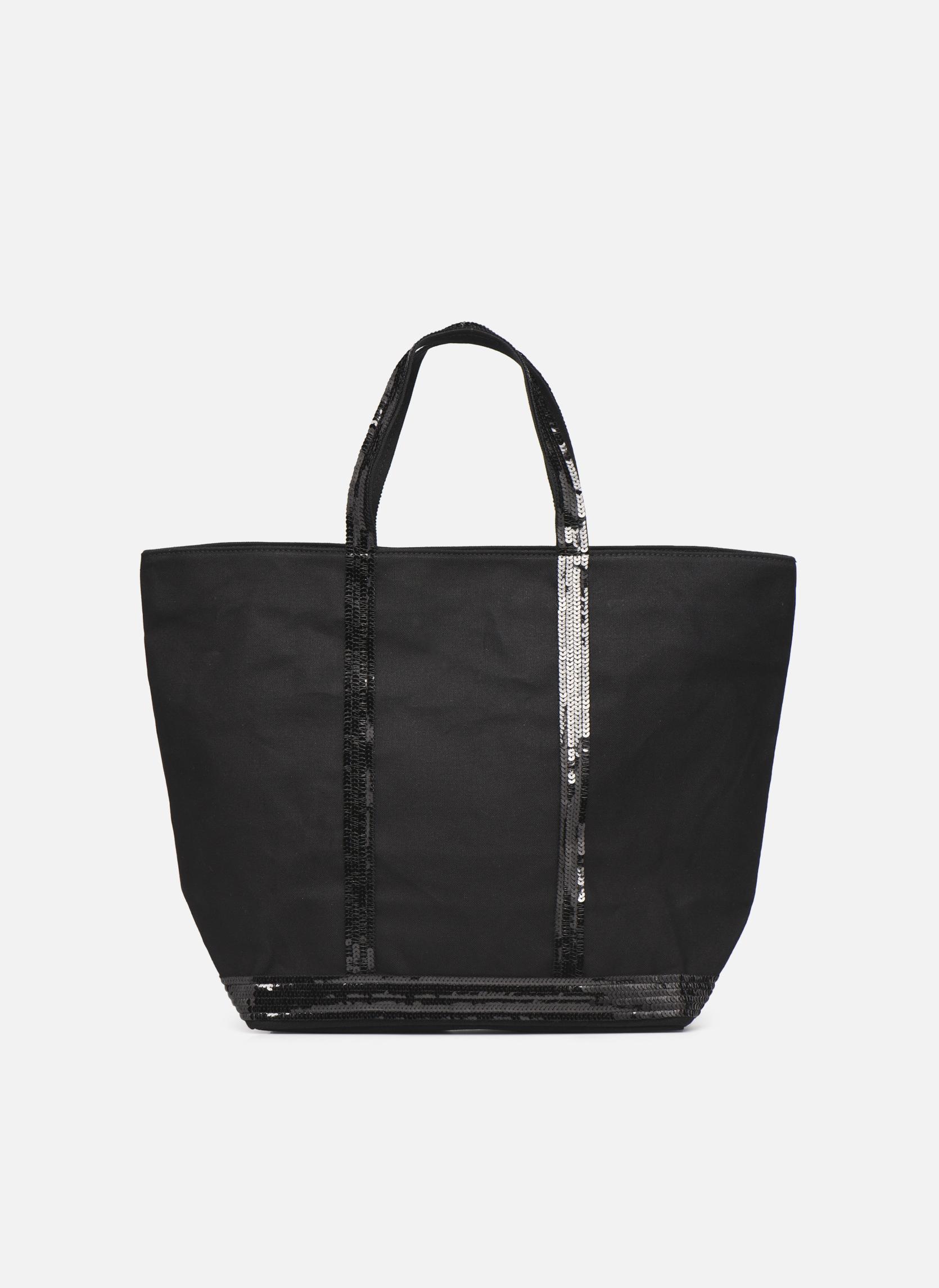 Handtaschen Taschen Cabas paillettes toile Porté épaule M+