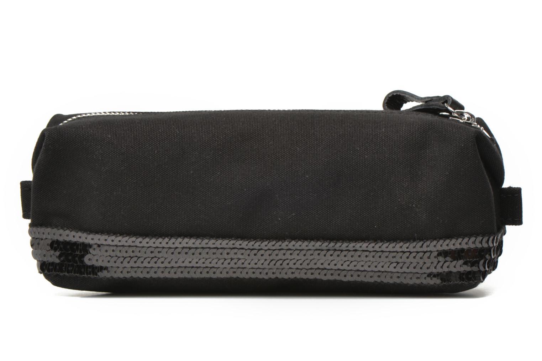 School bags Vanessa Bruno Trousse paillettes toile Black front view