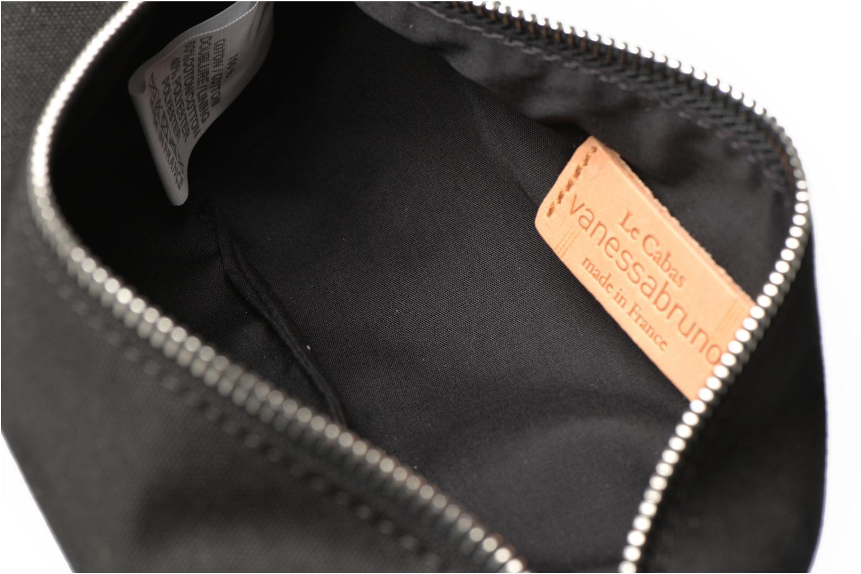 School bags Vanessa Bruno Trousse paillettes toile Black back view