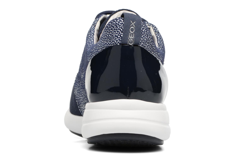 Baskets Geox D OPHIRA A D621CA Bleu vue droite
