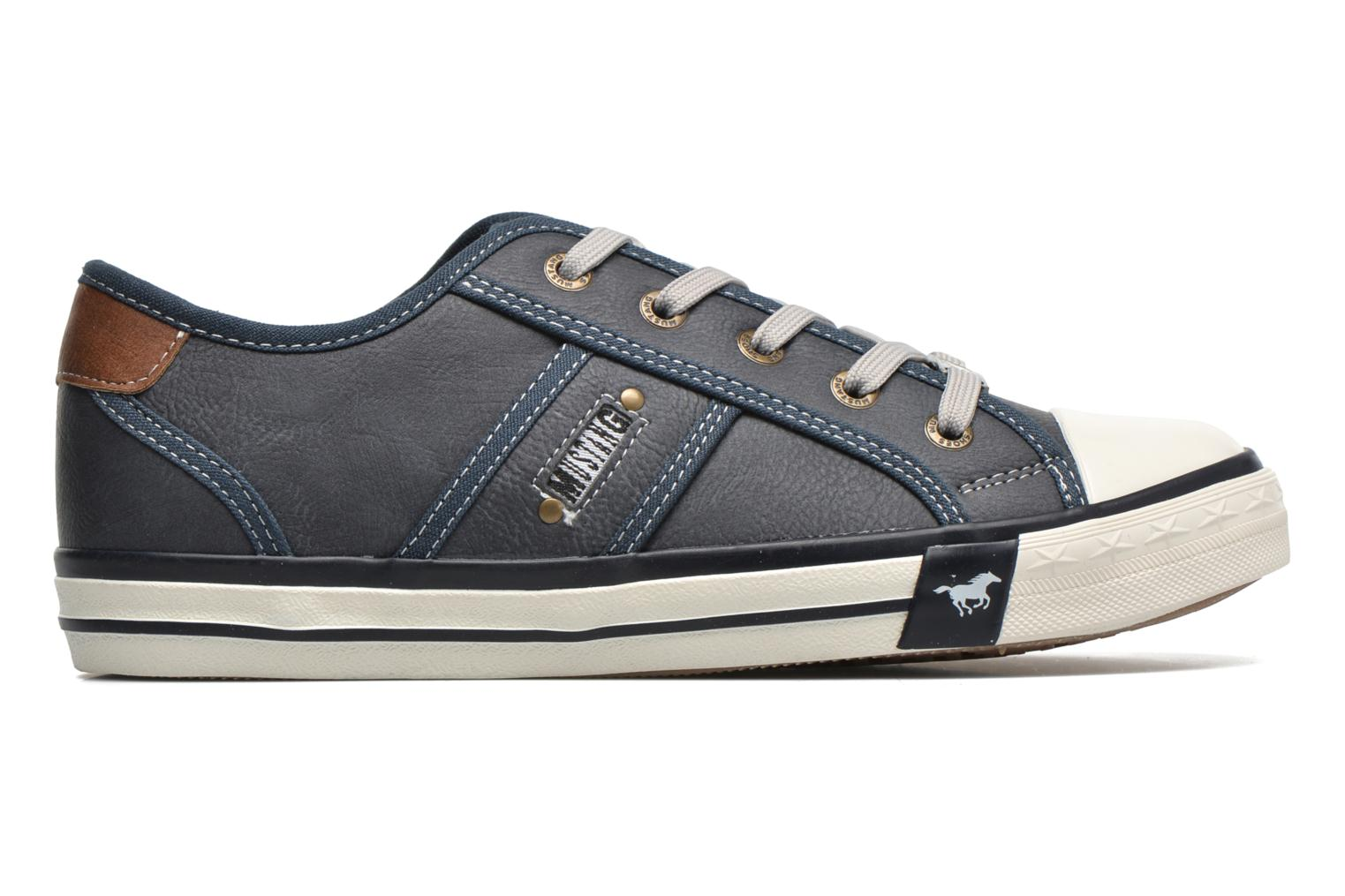 Trainers Mustang shoes Pluy Blue back view