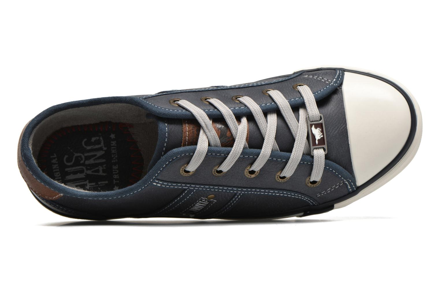Sneaker Mustang shoes Pluy blau ansicht von links