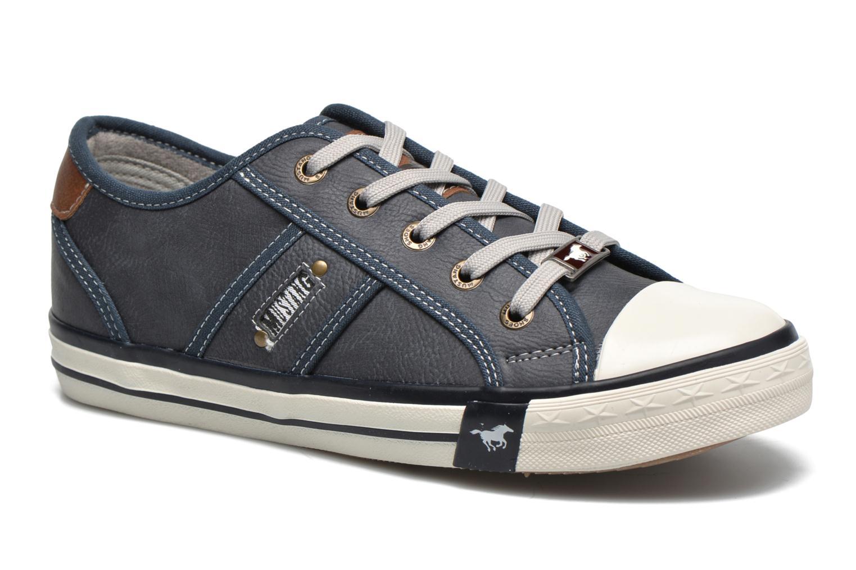 Baskets Mustang shoes Pluy Bleu vue détail/paire