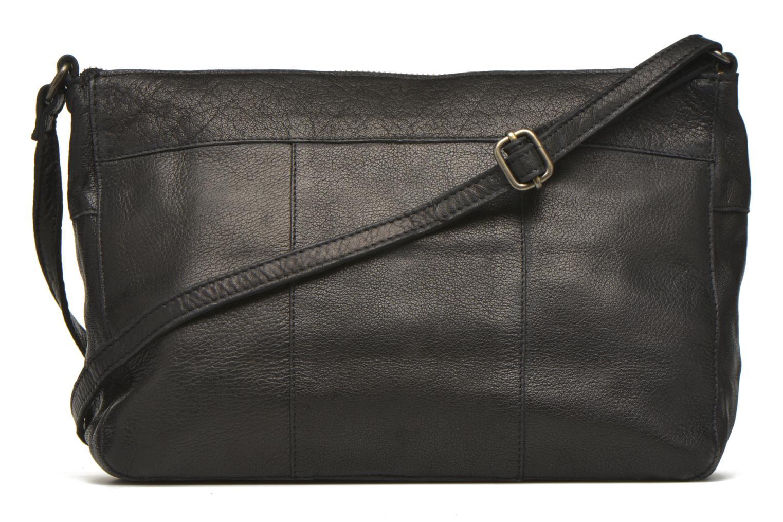 Handtaschen Pieces POFO Leather Crossbody bag schwarz ansicht von vorne
