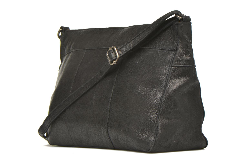 Handtaschen Pieces POFO Leather Crossbody bag schwarz ansicht von rechts