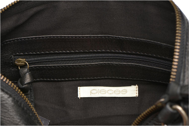 Handtaschen Pieces POFO Leather Crossbody bag schwarz ansicht von hinten