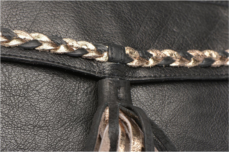 Bolsos de mano Pieces POFO Leather Crossbody bag Negro vista lateral izquierda