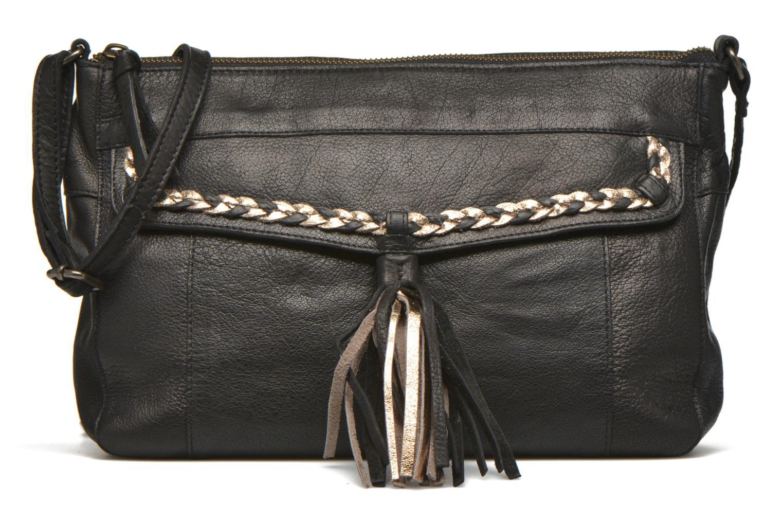 Bolsos de mano Pieces POFO Leather Crossbody bag Negro vista de detalle / par