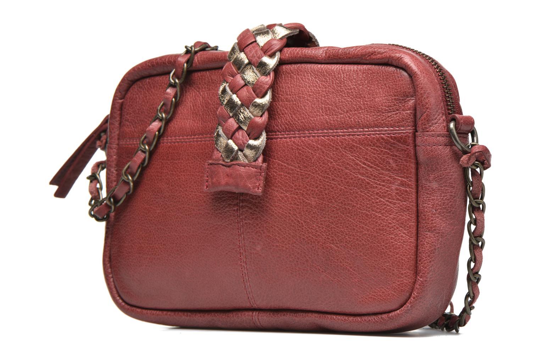 Handtaschen Pieces PIVO Leather Crossbody bag weinrot schuhe getragen