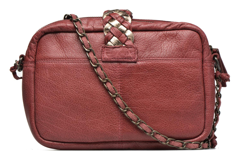Handtaschen Pieces PIVO Leather Crossbody bag weinrot ansicht von vorne