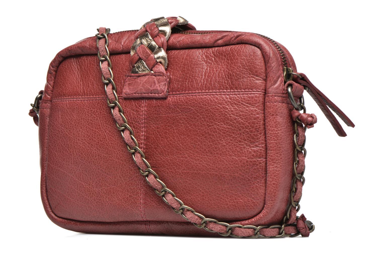 Handtaschen Pieces PIVO Leather Crossbody bag weinrot ansicht von rechts