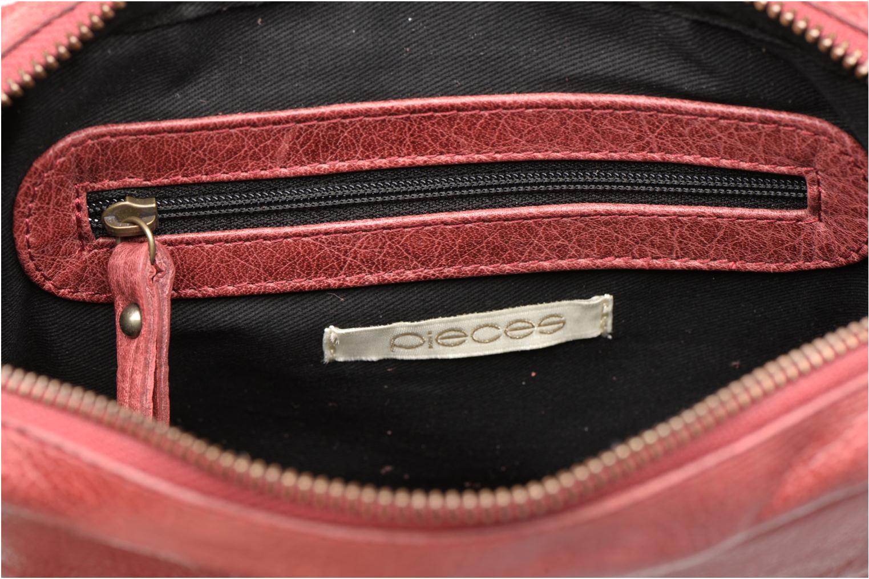 Handtaschen Pieces PIVO Leather Crossbody bag weinrot ansicht von hinten