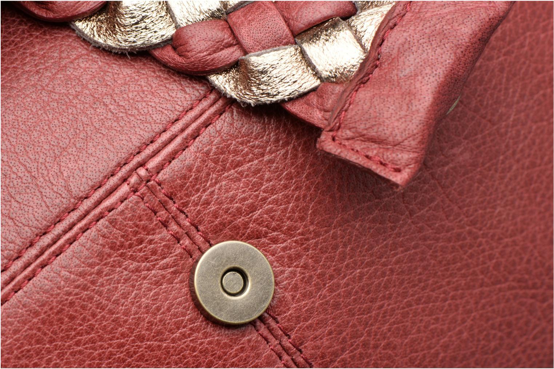 Handtaschen Pieces PIVO Leather Crossbody bag weinrot ansicht von links