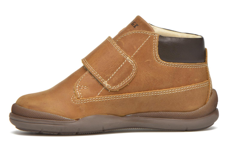 Zapatos con velcro Primigi Demian Beige vista de frente