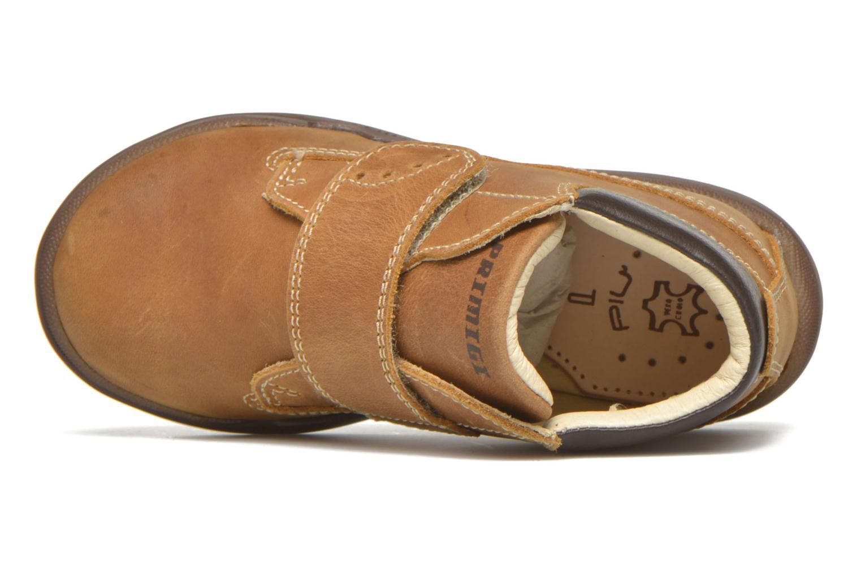 Zapatos con velcro Primigi Demian Beige vista lateral izquierda