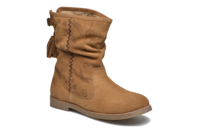 Ankelstøvler Coolway Betina Brun detaljeret billede af skoene