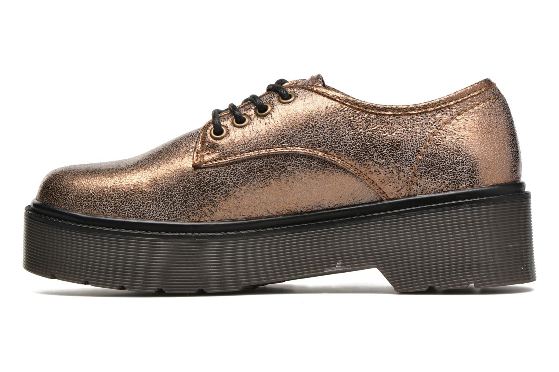 Zapatos con cordones Coolway Bonet Oro y bronce vista de frente