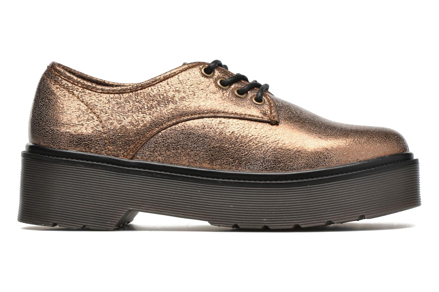 Lace-up shoes Coolway Bonet Bronze and Gold back view