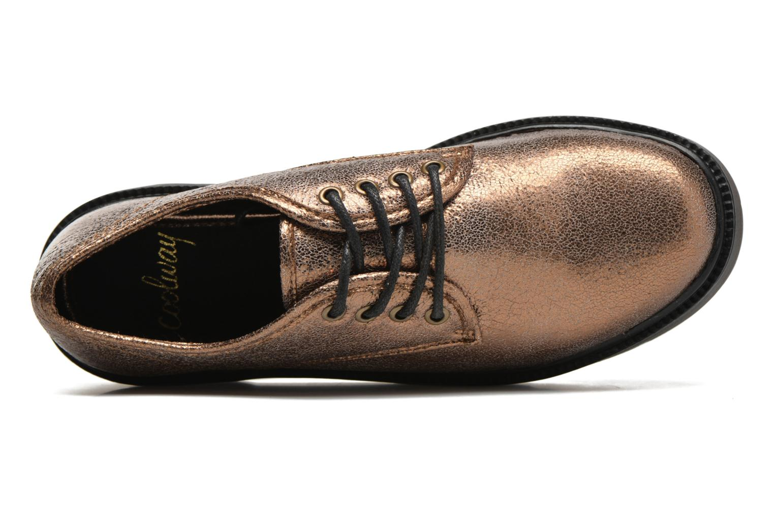 Lace-up shoes Coolway Bonet Bronze and Gold view from the left