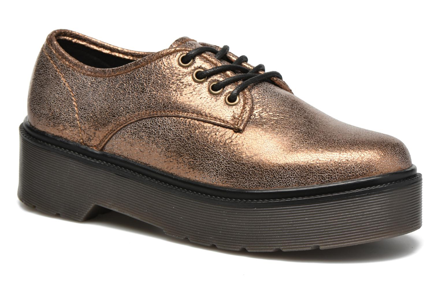 Lace-up shoes Coolway Bonet Bronze and Gold detailed view/ Pair view