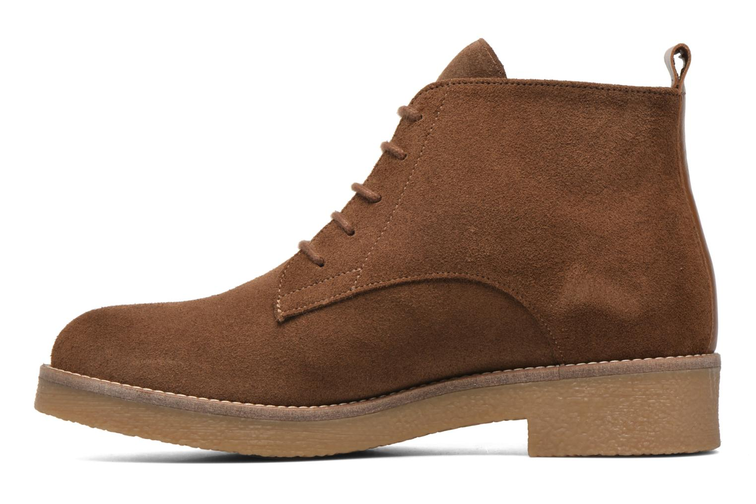 Ankle boots Georgia Rose Lucrepe Brown front view