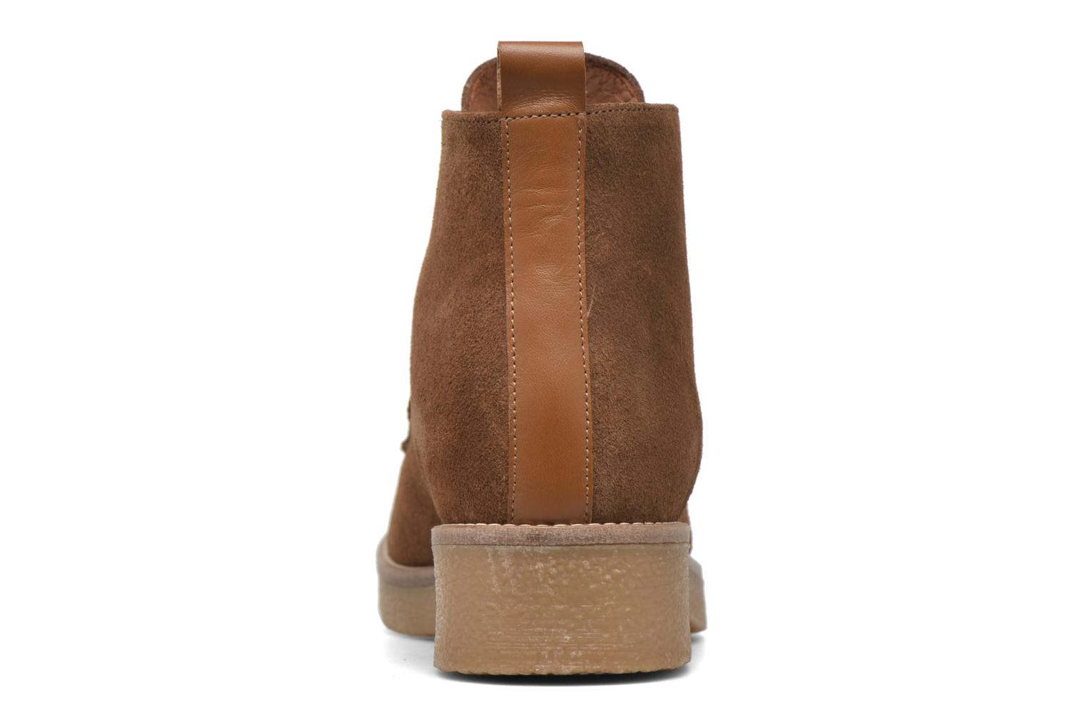 Ankle boots Georgia Rose Lucrepe Brown view from the right
