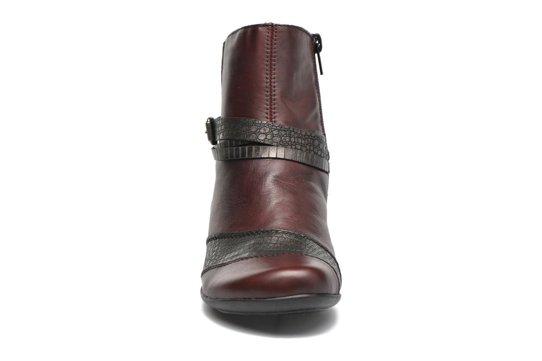 Bottines et boots Remonte Julie D7397 Bordeaux vue portées chaussures
