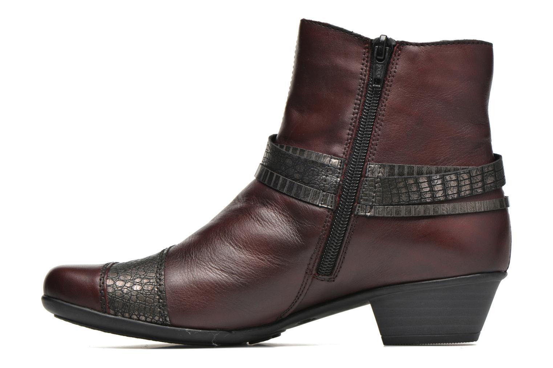 Bottines et boots Remonte Julie D7397 Bordeaux vue face