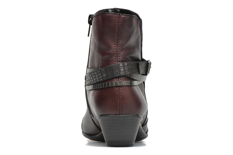 Bottines et boots Remonte Julie D7397 Bordeaux vue droite
