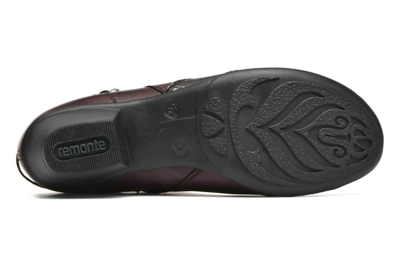 Bottines et boots Remonte Julie D7397 Bordeaux vue haut
