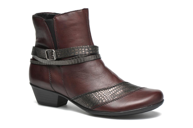 Bottines et boots Remonte Julie D7397 Bordeaux vue détail/paire