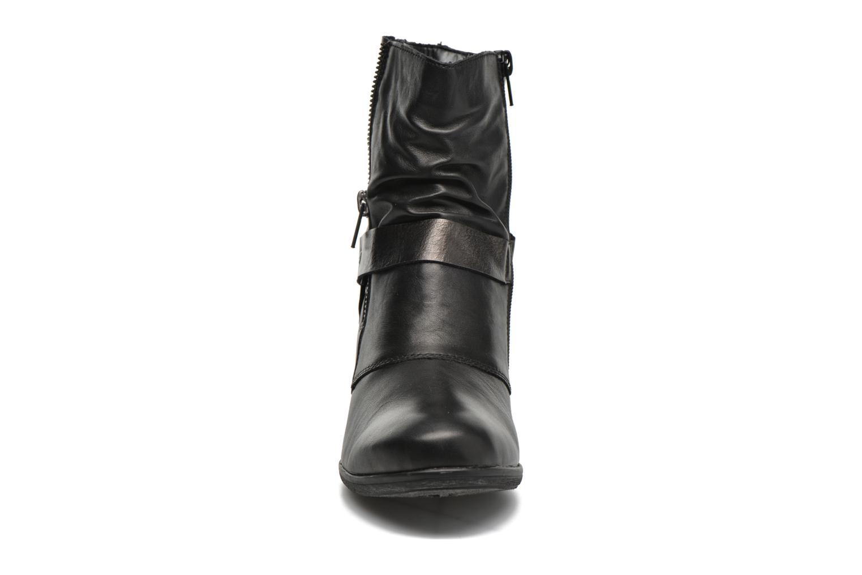 Stiefeletten & Boots Remonte Marine D8772 schwarz schuhe getragen