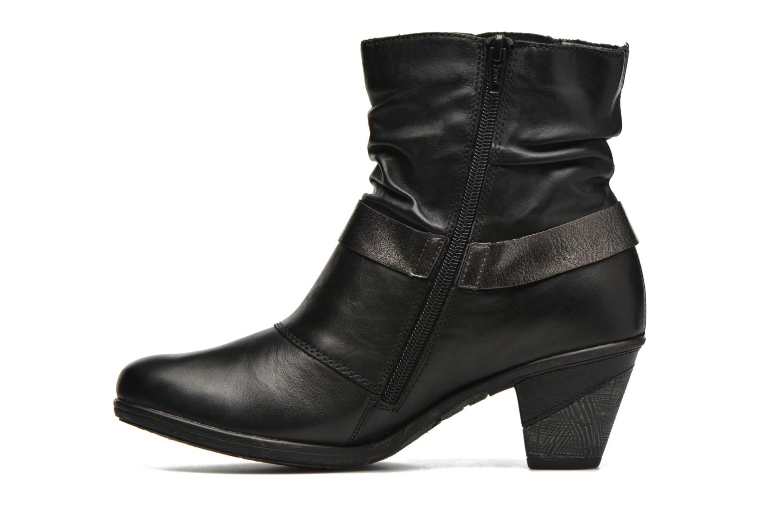 Ankle boots Remonte Marine D8772 Black front view
