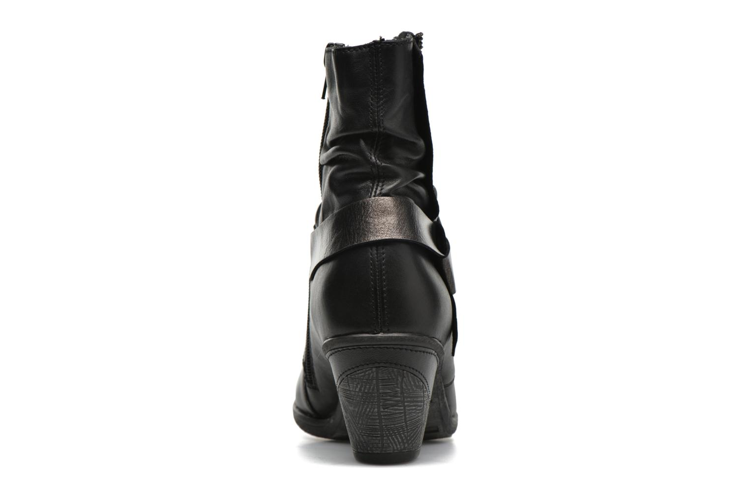 Ankle boots Remonte Marine D8772 Black view from the right