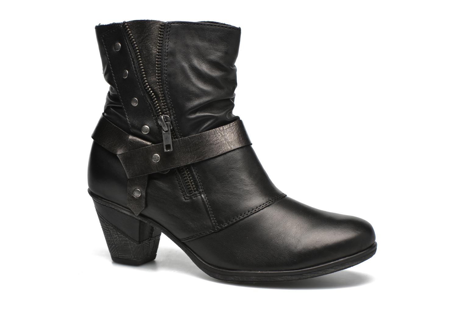 Ankle boots Remonte Marine D8772 Black detailed view/ Pair view