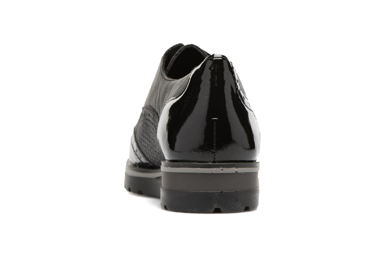 Zapatos con cordones Remonte Alix R1901 Negro vista lateral derecha