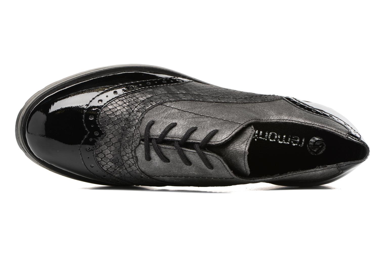Zapatos con cordones Remonte Alix R1901 Negro vista lateral izquierda