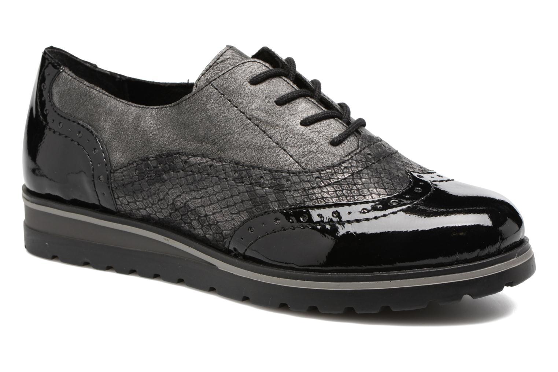 Lace-up shoes Remonte Alix R1901 Black detailed view/ Pair view