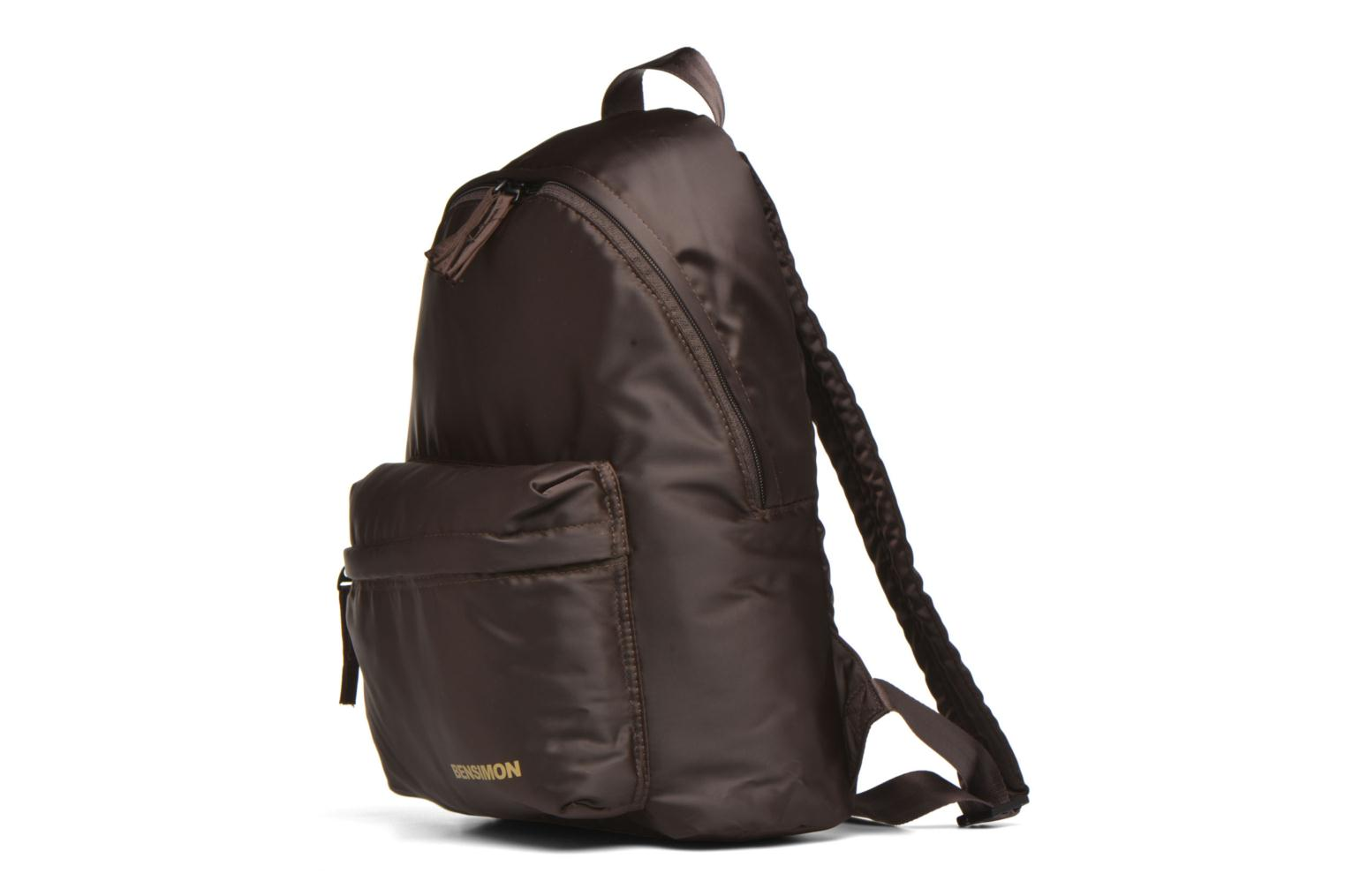 Zaini Bensimon City Backpack Marrone modello indossato