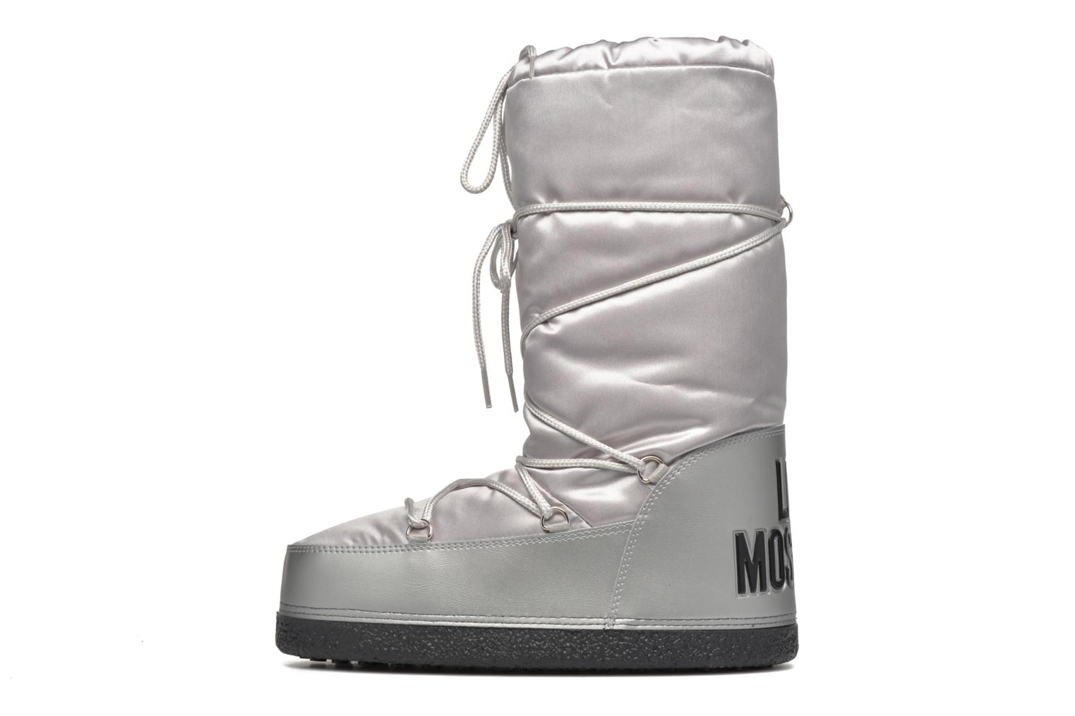 Bottes Love Moschino Silversnow Argent vue face