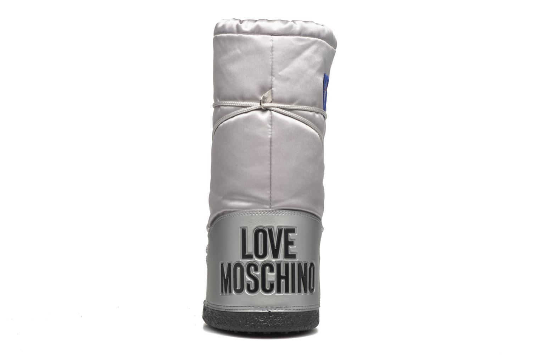 Bottes Love Moschino Silversnow Argent vue droite