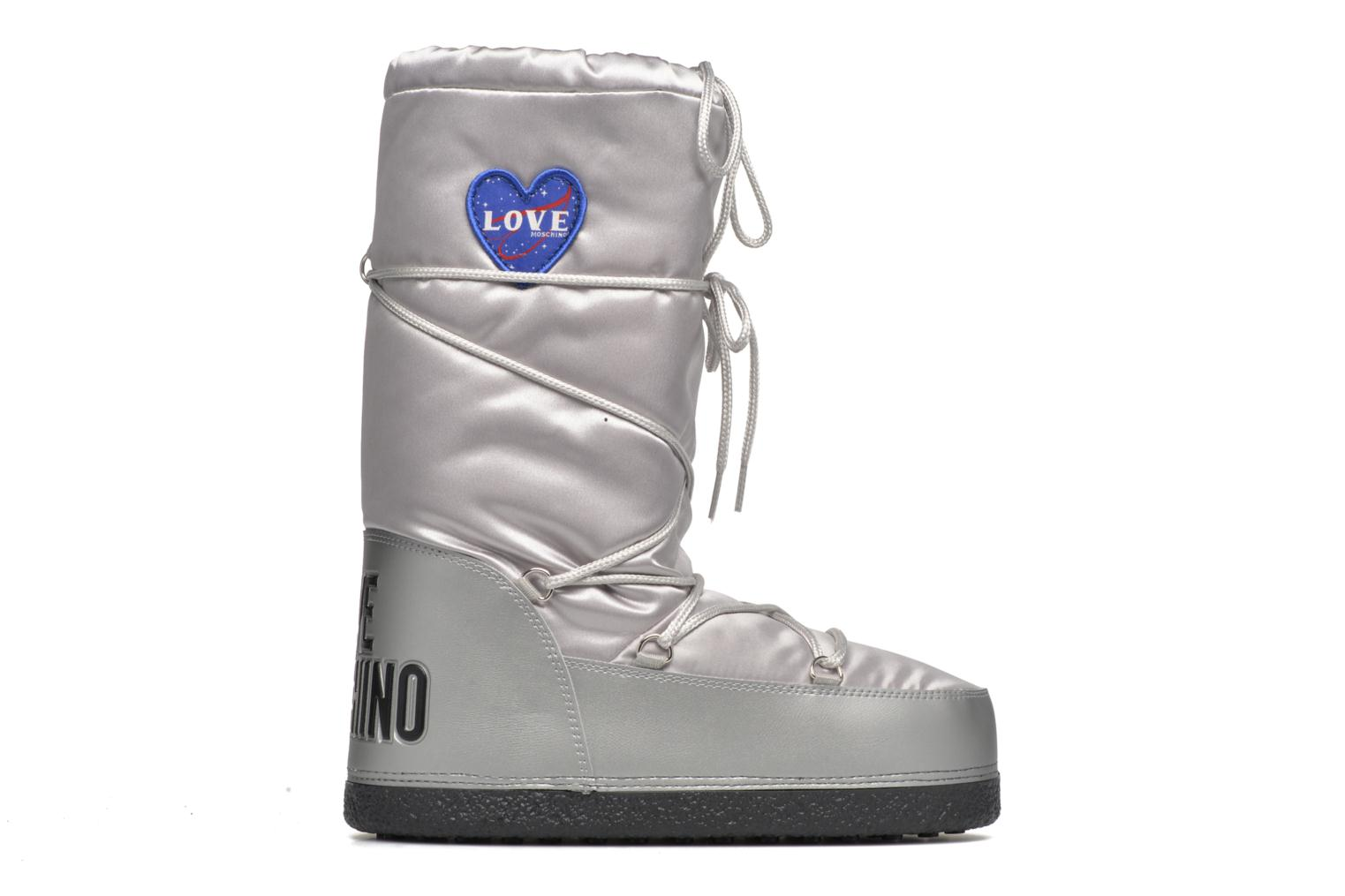 Boots & wellies Love Moschino Silversnow Silver back view