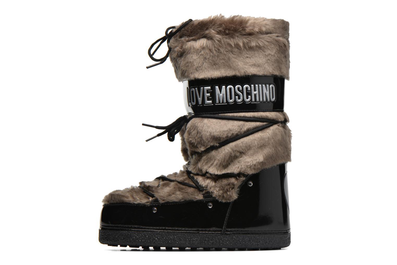 Bottes Love Moschino Moonlove Marron vue face