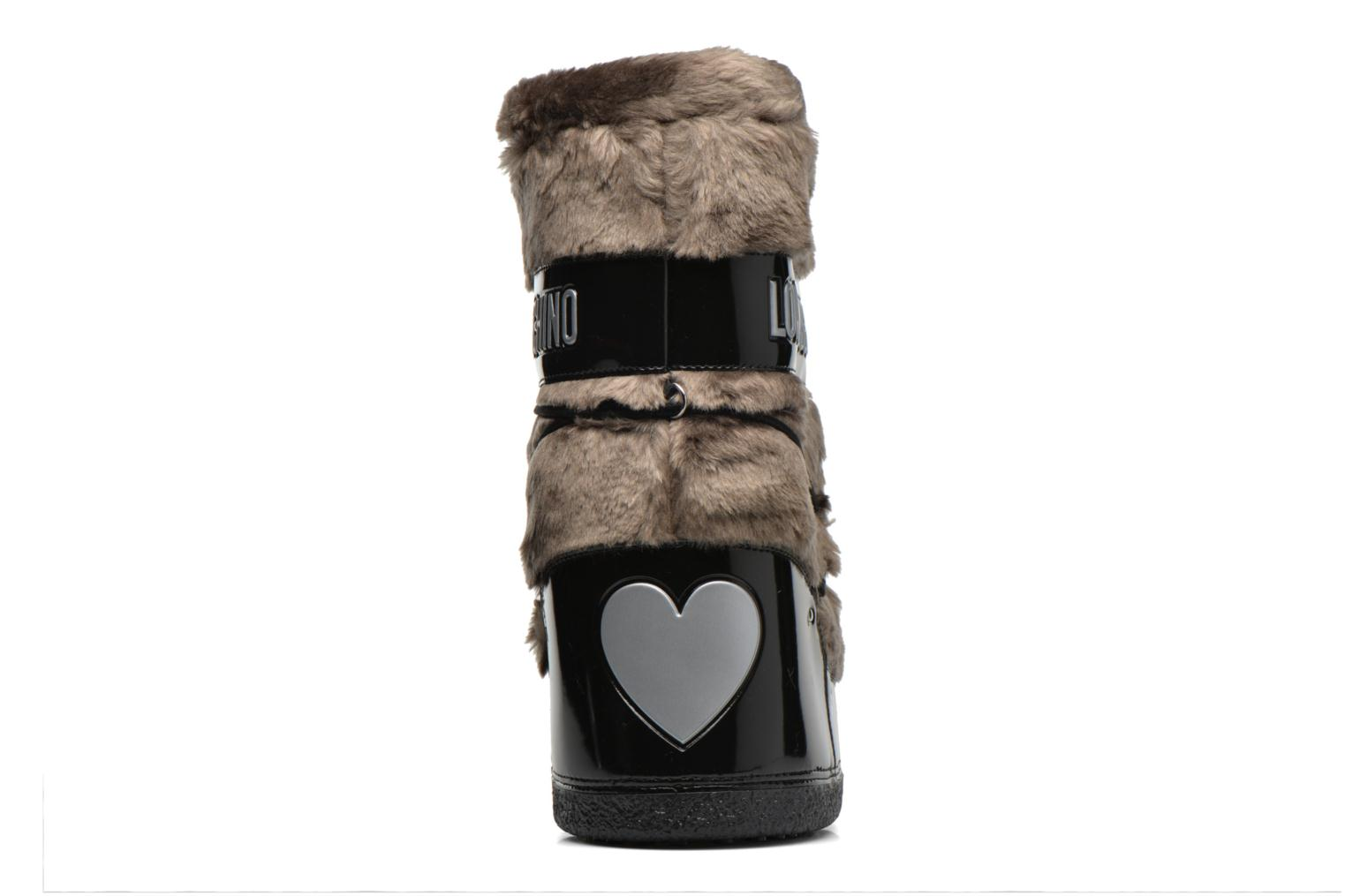 Boots & wellies Love Moschino Moonlove Brown view from the right