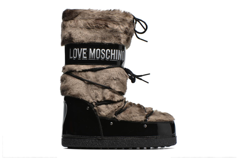 Bottes Love Moschino Moonlove Marron vue derrière