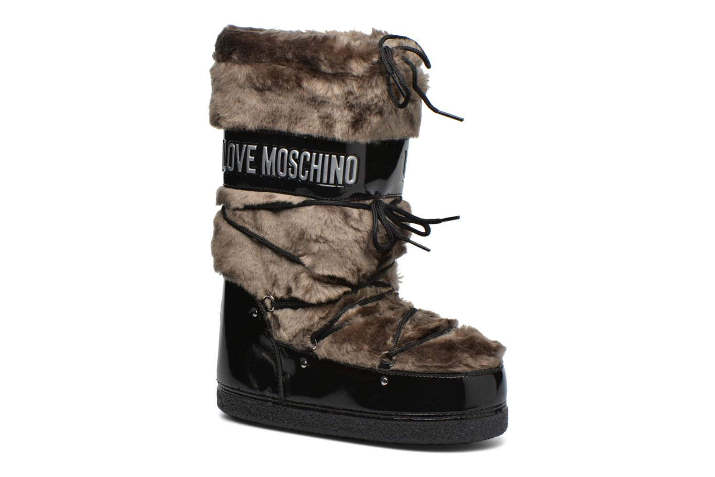 Bottes Love Moschino Moonlove Marron vue détail/paire