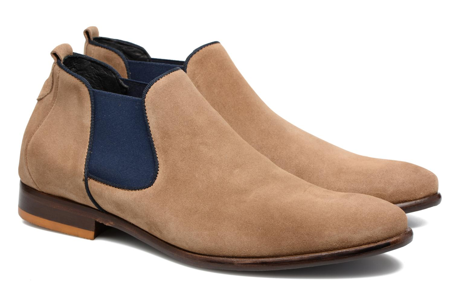 Ankle boots Mr SARENZA Toddown Beige back view