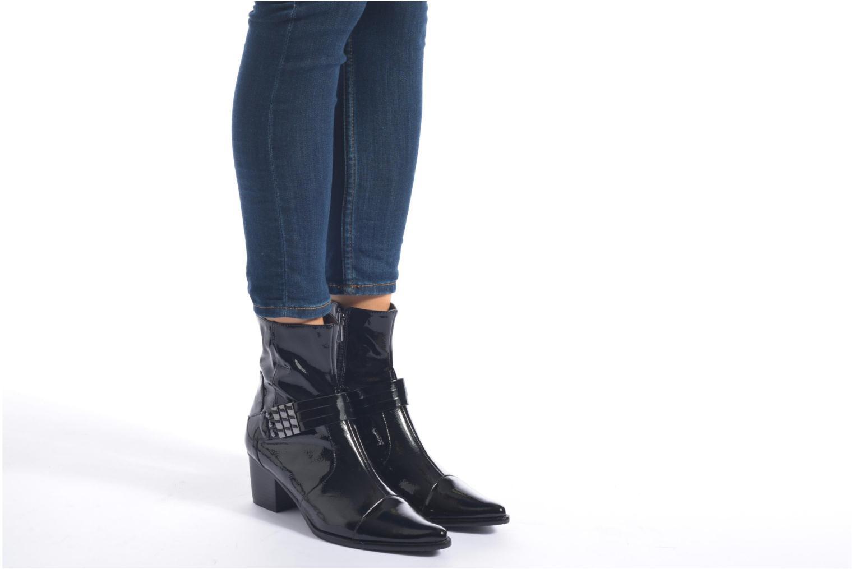 Bottines et boots Madison AYRAN #Ch Verni NOIR/VerSp Noir vue bas / vue portée sac