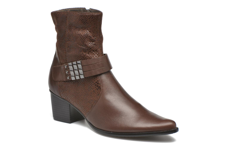 Bottines et boots Madison AYRAN ChGiava HUMUS/ReptSp Marron vue détail/paire